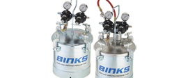 Air spray pumps and pressure pots